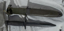 Vietnam War US Army USMC Soldiers Black Knife with Sheath, BOC marked