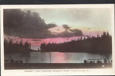 Canada Postcard - Sunset, Lost Lagoon, Stanley Park, Vancouver RS2332