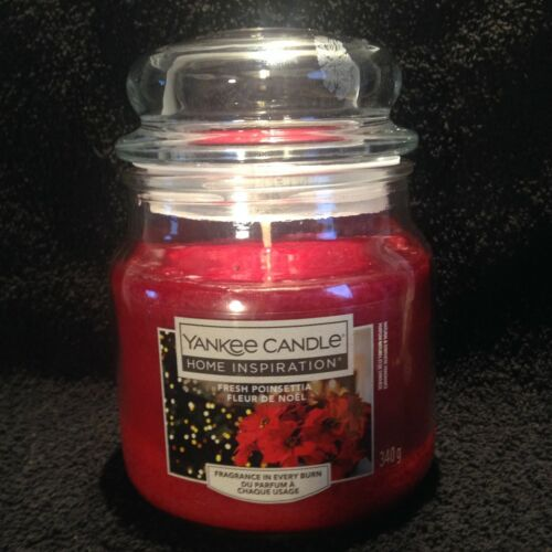 Yankee candle home inspiration Fresh Poinsettia medium jar 340g