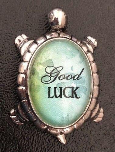 "Lucky Message Turtle Figurine /""Good Luck/"" Encouragement Inspirational"