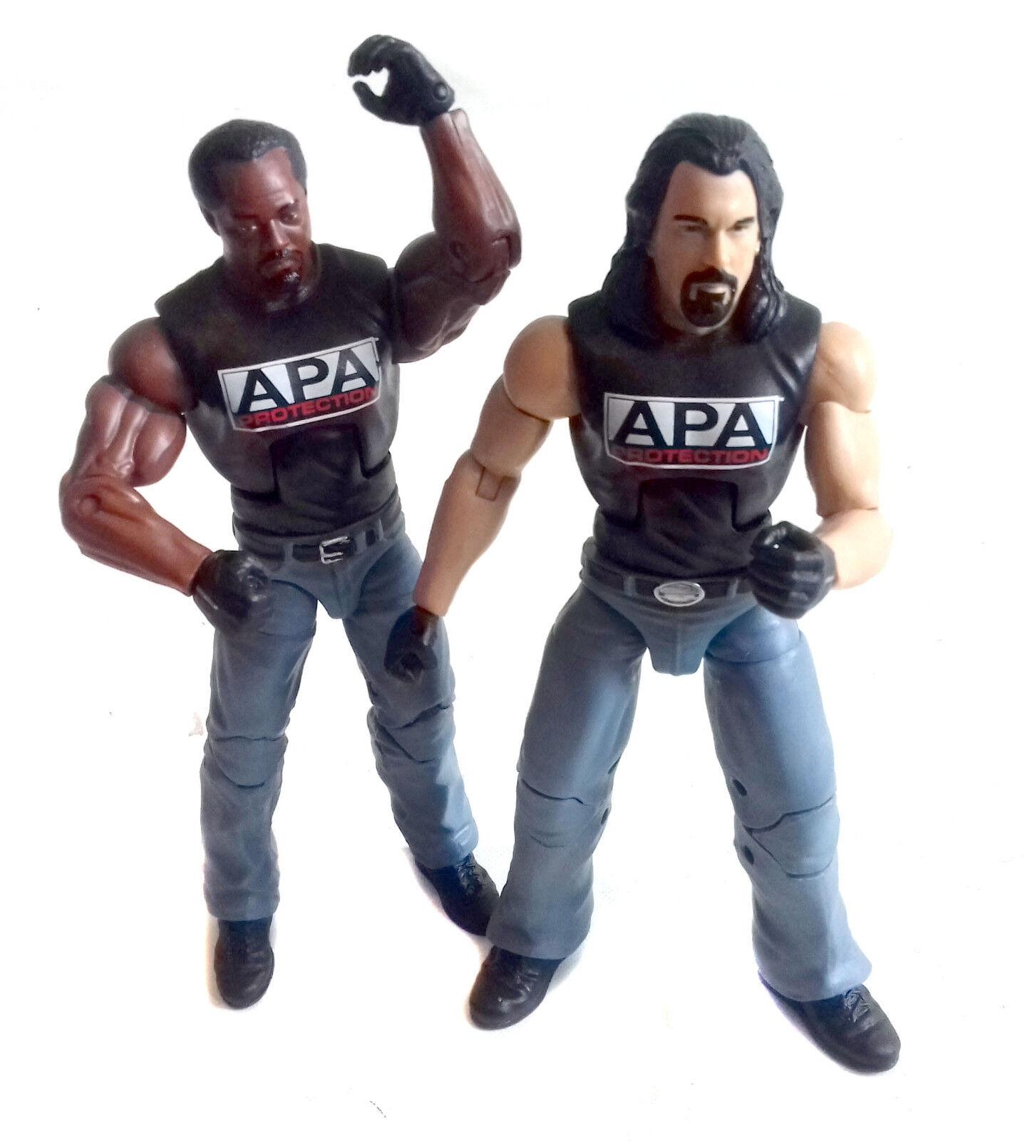 WWF WWE Wrestking APA PredECTION Tag Team 6  elite Superposeable figures Mattel
