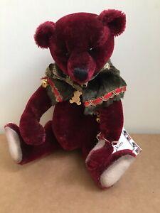 Sharon Barron Bear Merry Crimson