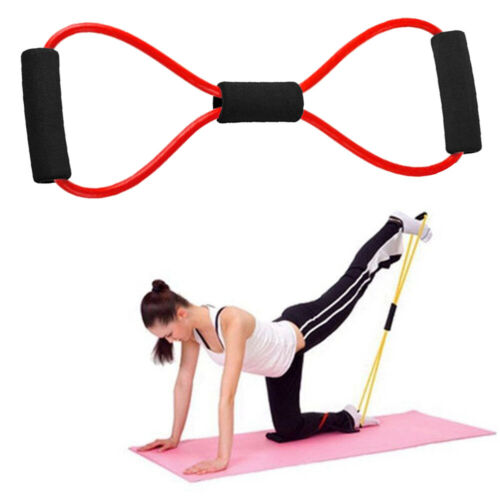 8 Word Yoga Fitness Chest Expander Rope Rubber Elastic Band for Sports Exercise