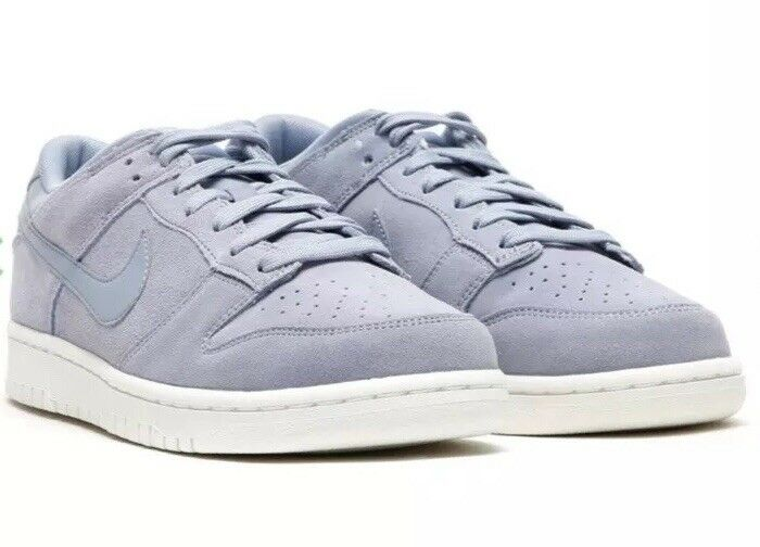Nike Dunk Low Men's Athletic shoes 904234-005 Glacier Grey White Suede Size 7.5