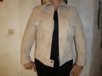 Aggressiv Elegance Paris Original 90er Jahre Blazer Jacke Lederjacke G 38 40 M Beige Leder Elegant Im Geruch