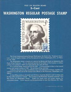 1283-5c-Geroge-Washington-Stamp-Poster-Unofficial-Souvenir-Page-Flat