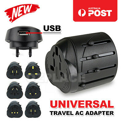 International USB Travel Adapter AC Power Plug Converter Universal AUS UK US EU