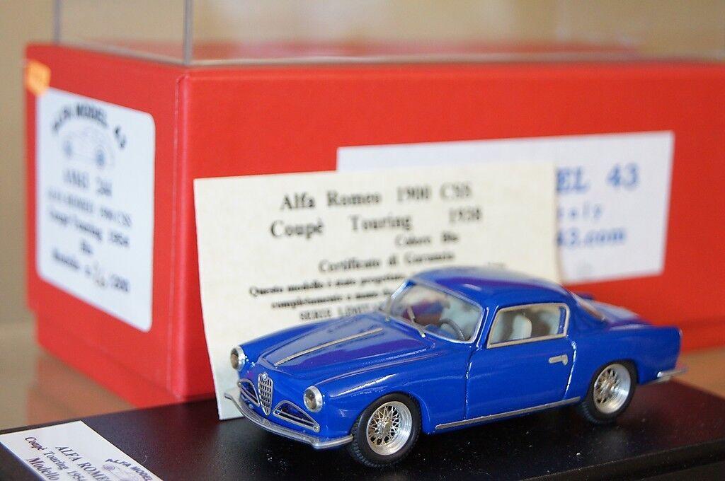 mejor calidad FDS ALFA MODEL MODEL MODEL 43 1954 ALFA ROMEO 1900 CSS COUPE TOURING azul NEW ar  ventas calientes
