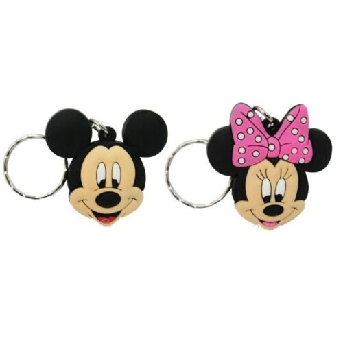 Mickey Mouse 2 Disney 2 Retro Mickey PVC Soft Touch Keychain//Keyring 1 PAIR
