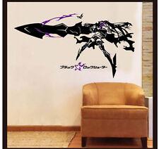 Anime Black Rock Shooter Insane Version Wall Sticker Bedroom Waterproof MH