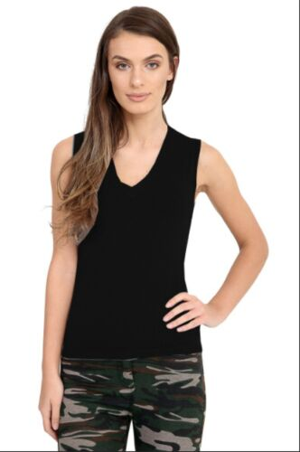 Women Casual V-neck Sweater Sleeveless Pure Colour Pullover Blouse Shirt Jumper