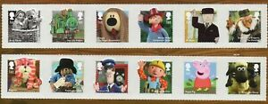 Great-Britain-Sc-3248-59-Children-039-s-TV-Characters-stamps-mint-NH-Free-Shipping