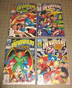 The INVADERS #1 Thru #4 (1993) FN/VF Condition Comic Set - Cap, Torch + More