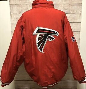 Atlanta-Falcons-90-s-Reebok-Full-Zip-Puffer-Jacket-Size-XL-Red