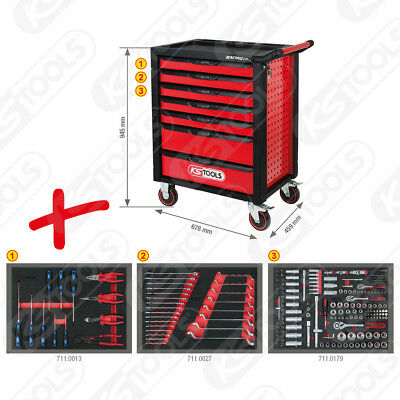 ks tools racing werkstattwagen mit 7 schubladen 215 premium werkzeugen ebay. Black Bedroom Furniture Sets. Home Design Ideas