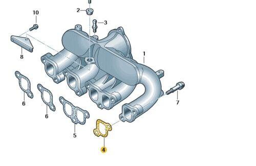 VW Touareg T5 SINGLE GUARNIZIONE COLLETTORE DI ASPIRAZIONE 070129717 NUOVO Originale VW Parte