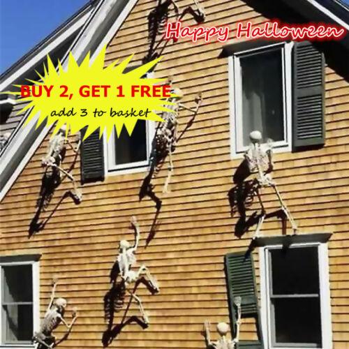 Hanging Skull Horrible Human Skeleton Glow In Dark Halloween Props Garden Decor
