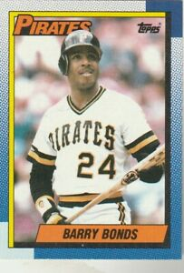 FREE-SHIPPING-MINT-1990-TOPPS-220-BARRY-BONDS-PIRATES-PLUS-BONUS-CARDS