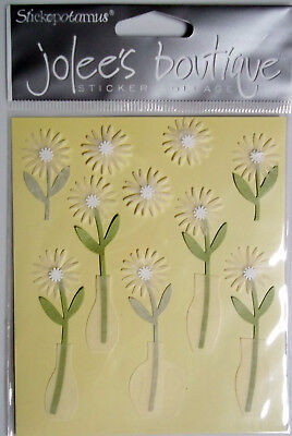 White Daisies 10 Pcs Dimensional Stickers Jolee/'s Boutique Free Shipping NIP