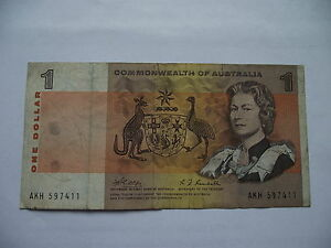 Aggressiv Australien (commonwealth Of Australia). 1 Dollar Nd (1969) P-37c