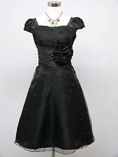 Cherlone Black Prom Ball Evening Bridesmaid Wedding Formal Gown Dress Size 14-16