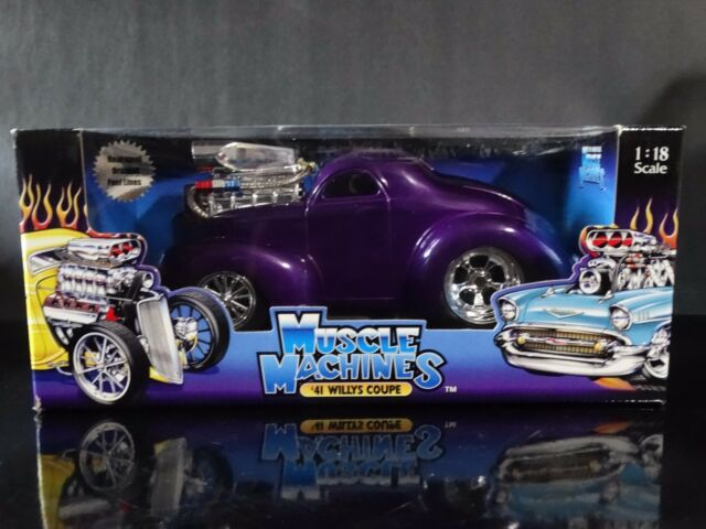 Muscle Machines '41 Willys Coupe Hot Rod 1:18 Scale Diecast 1941 Metal  Model Car