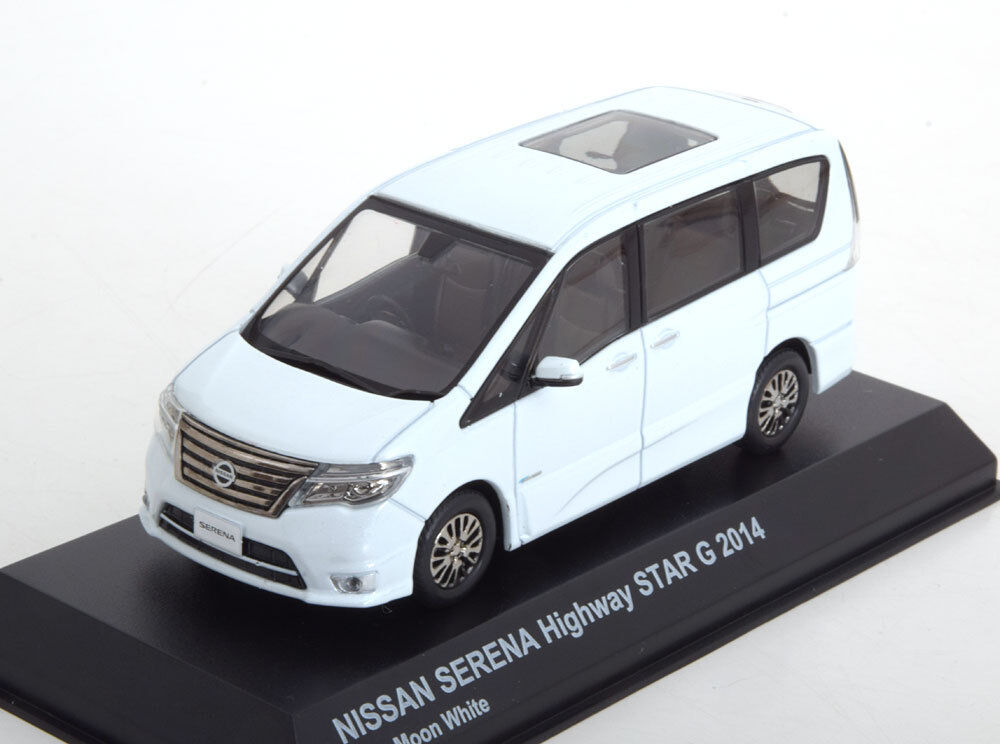 NISSAN SERENA HIGHWAY STAR G 2014 bleu MOON blanc KYOSHO 03871BMW 1 43 WEISS