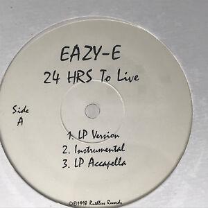 Eazy-E-24-Hours-To-Live-Vinyl-Record-Original-90s-Hip-Hop-Promo-Sealed-12-034