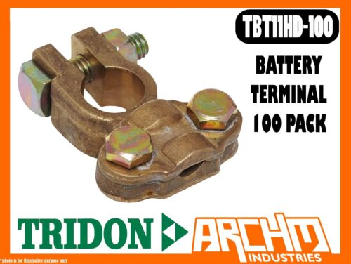 TRIDON TBT11HD100 BATTERY TERMINAL 100 PACK BRASS 5090mm2 0000 B&S BOXED