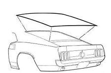 Mustang Rear Window Weatherstrip Fastback 1971 1972 1973 Daniel Carpenter