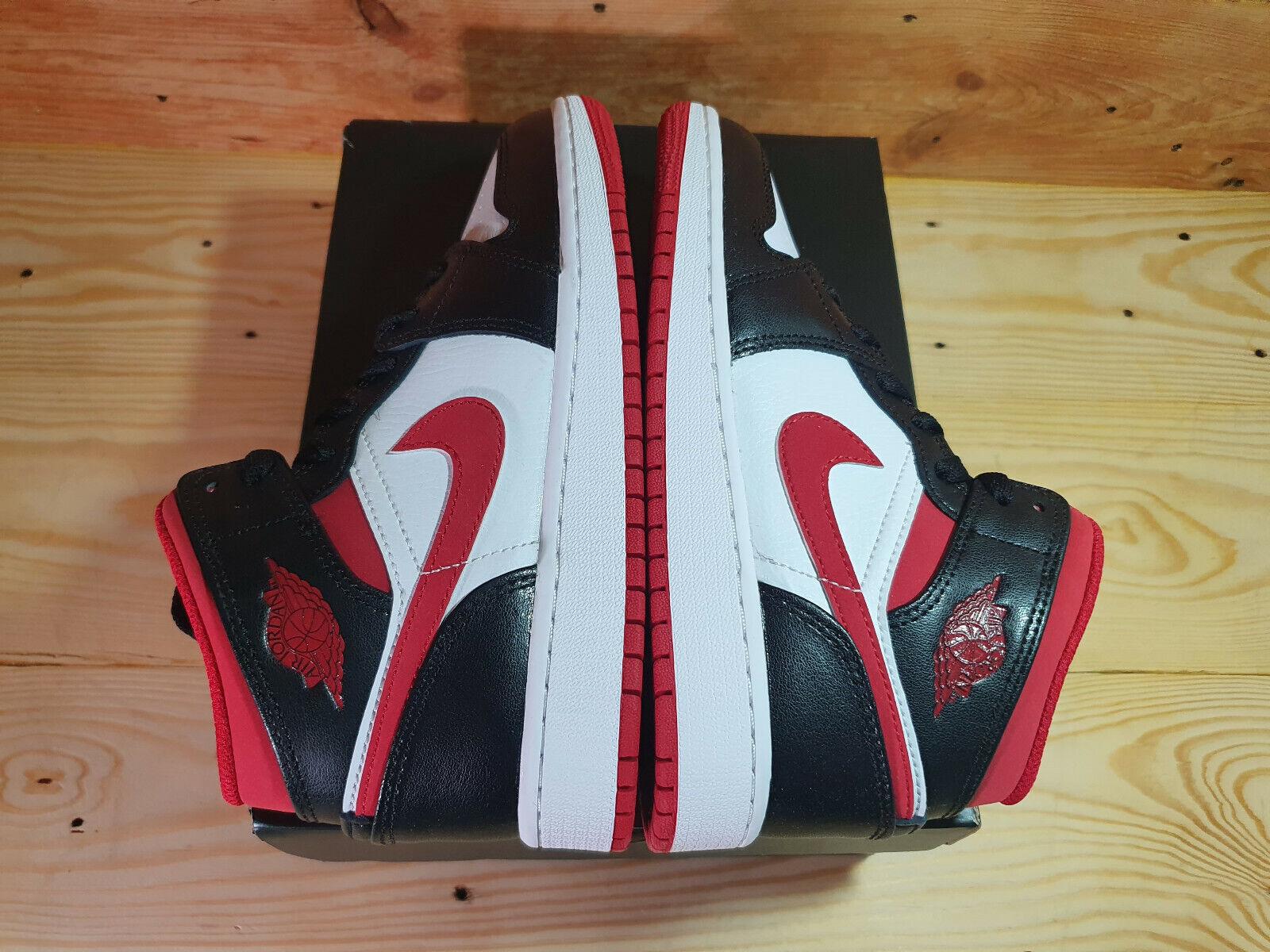 Nike Jordan 1 Mid Gym Red GS UK 3 US 3.5Y IN HAND