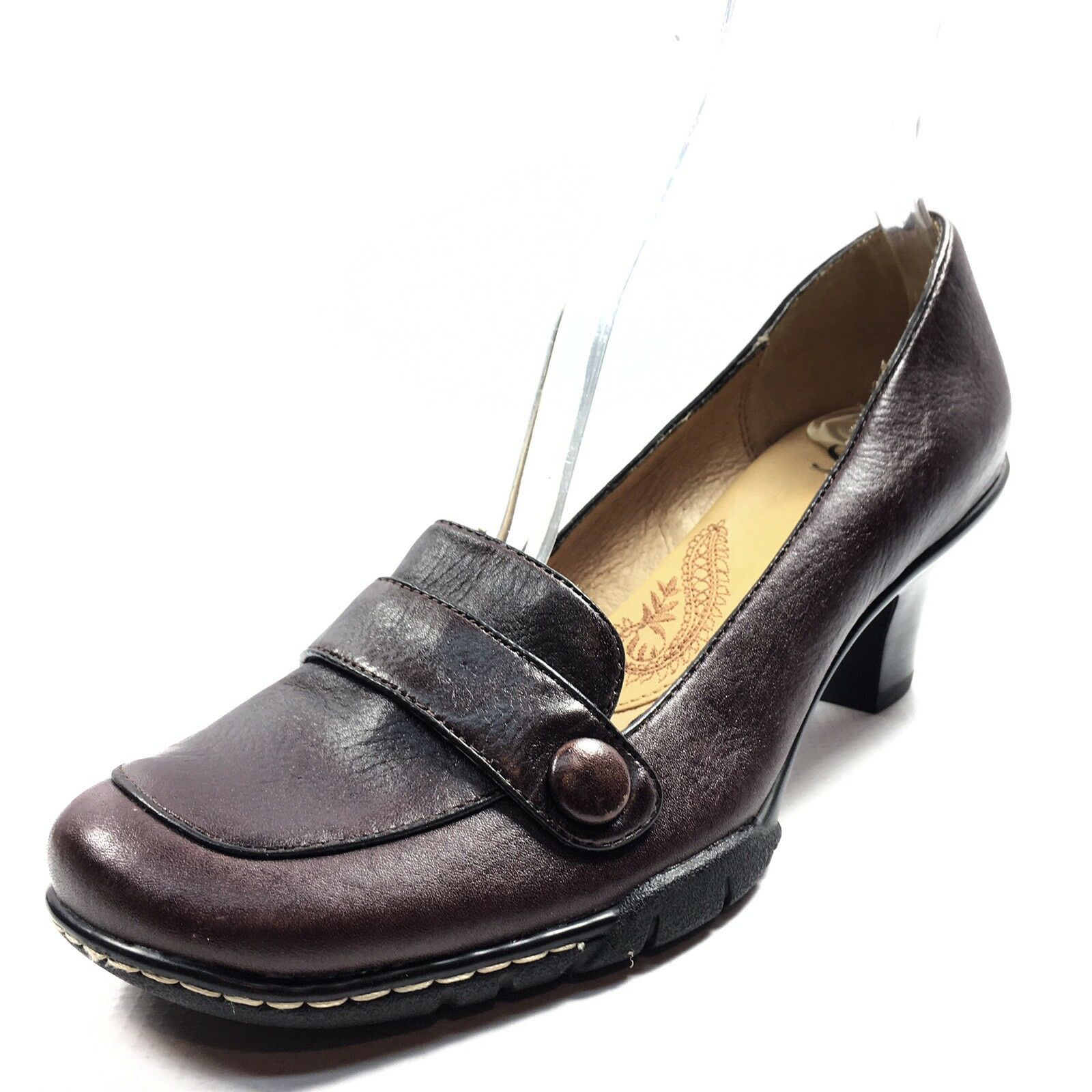 SOFFT Brown Leather Casual Heels Pumps Women's Size 8 M