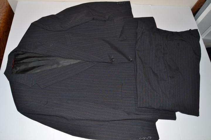 JOS A BANK NAVY Blau PINSTRIPED 2 BUTTON BLAZER SUIT  Herren SIZE 46L 40 X 28