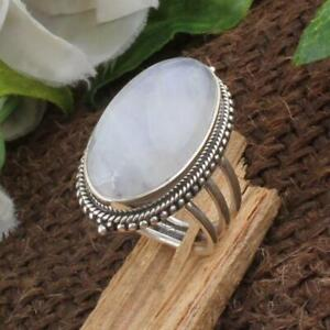Moonstone Ring 925 Sterling Silver Ring Handmade Ring Worry Ring All Size KA-36