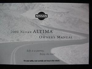 nissan 2000 altima original owners manual niss043 ebay rh ebay co uk 2008 Nissan Altima 2015 Nissan Altima