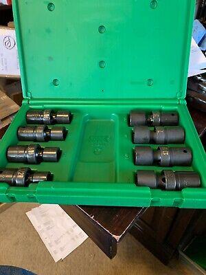 """S K 8 Pc 1//2/"""" Dr 6 Pt Swivel SAE Fractional Impact Socket Set 34301"""