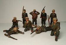Lot 9 Vintage Timpo Lead Hollow Cast Toy US ARMY SOLDIERS Britain Cresent