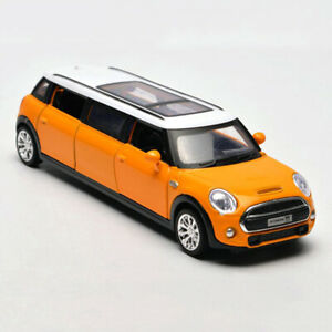 BMW-Mini-Extended-Limousine-1-36-Scale-Model-Car-Diecast-Toy-Vehicle-Yellow-Gift