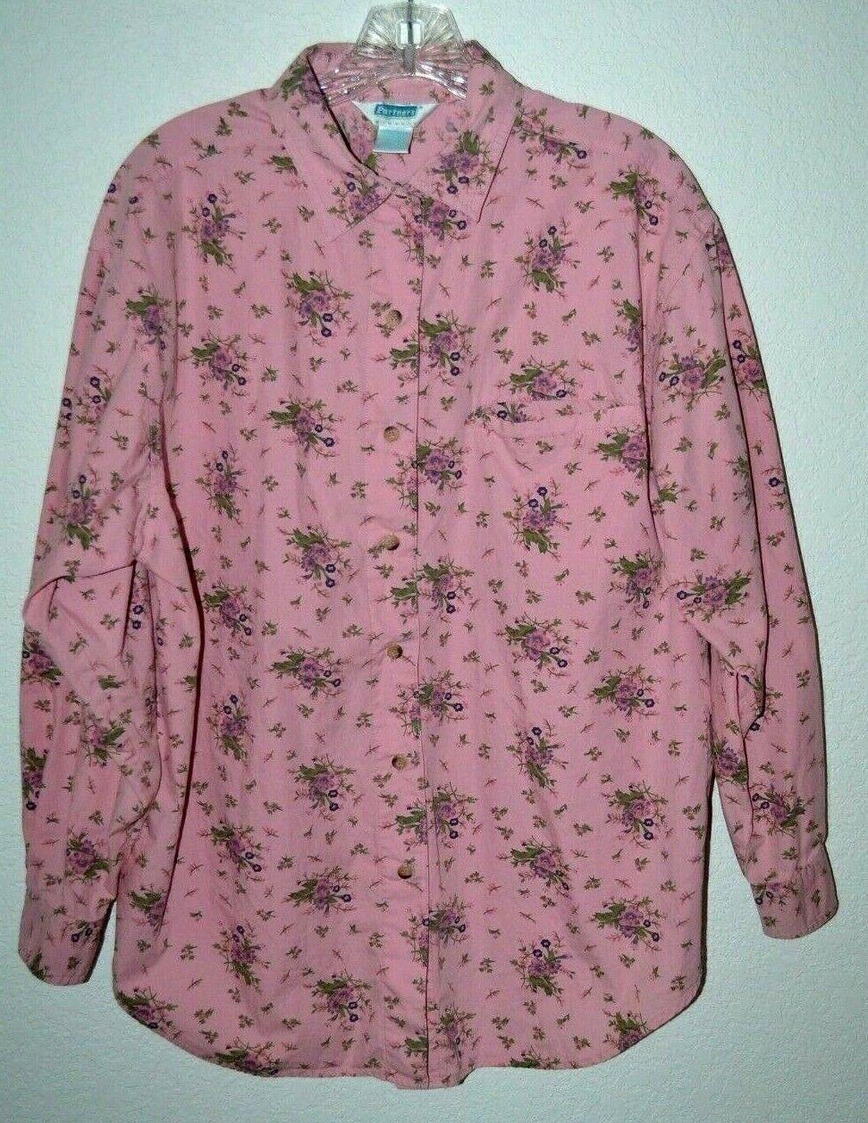 Partners Mervyns Women/'s Sz M Vintage 80/'s Mustard Blouse Top Shirt Smock