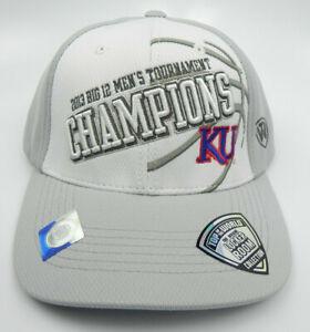 KANSAS-JAYHAWKS-TOW-NCAA-WHITE-2013-BIG-12-CHAMPIONS-LOCKER-ROOM-CAP-HAT-NEW