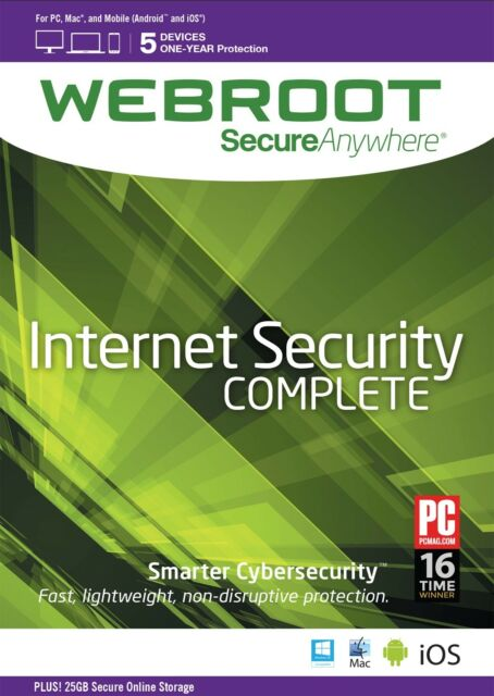 Webroot SecureAnywhere Internet Security Complete 5 Devices 1 Year -  Download