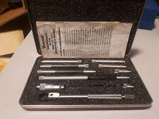 Starrett Inside Micrometer Set No 823b 1 12 12 Inches