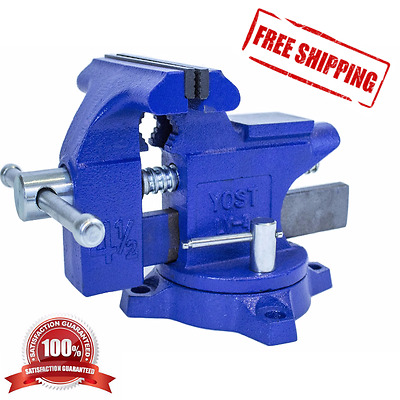 Astounding 4 Inch Bench Vise Heavy Duty Clamp 240 Swivel Locking Base Craftsman Vice Tool 789755000076 Ebay Andrewgaddart Wooden Chair Designs For Living Room Andrewgaddartcom