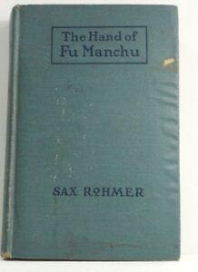 The Hand of Fu Manchu, Sax Rohmer, A L Burt, 3rd Printing, 1920