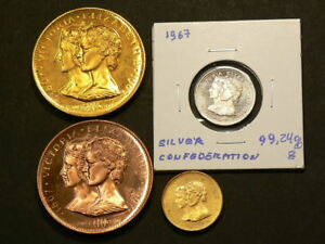 1867-1967-Canada-Centennial-Medals-Lot-of-4-2438