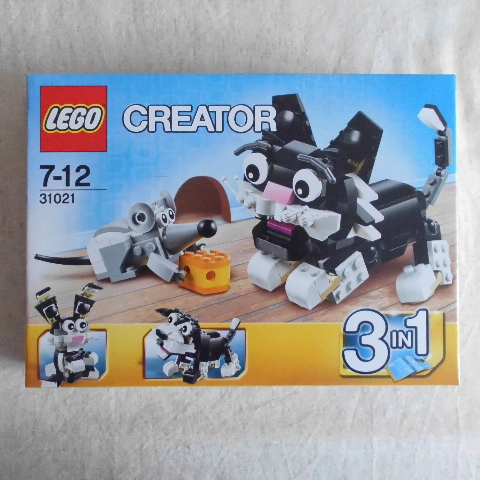 Lego 31021 Furry Creatures 3 in 1 Cat & Mouse BNIB Discontinued Set.