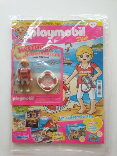 Playmobil Pink Heft  Nr.6   Rettungsschwimmerin am Strand OVP,NEU