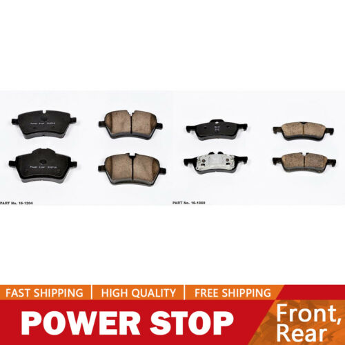 Power Stop Front /& Rear Ceramic Brake Pads For Mini Cooper 2006
