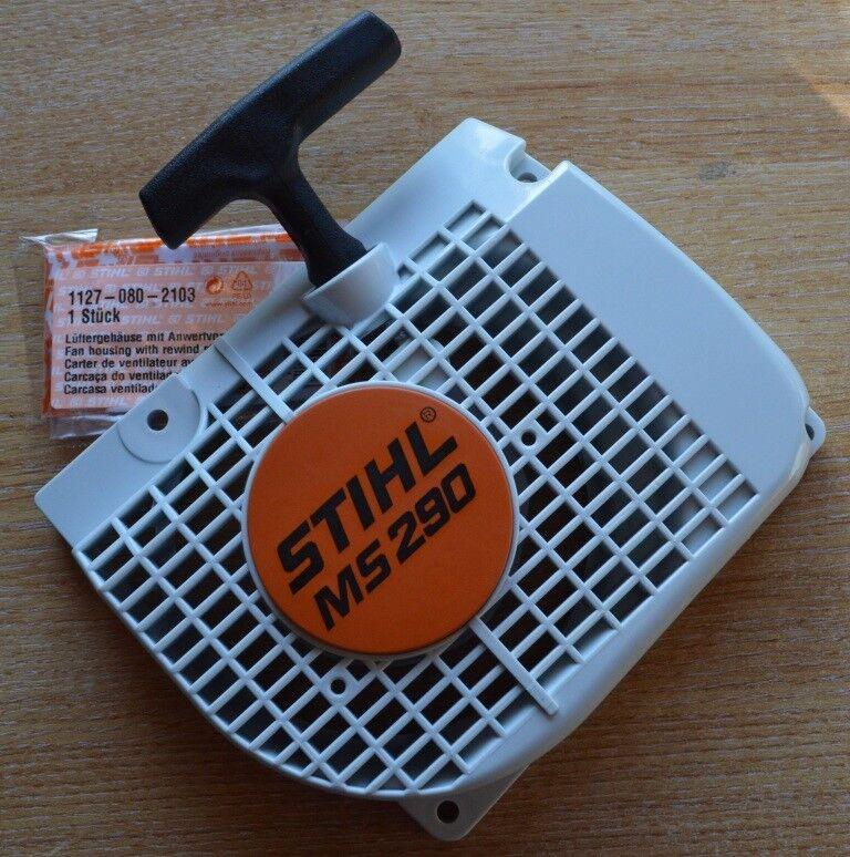 Genuine STIHL MS290 029 comienzo del tirón Cubierta del ventilador ensamblaje 1127 080 2103 seguimiento