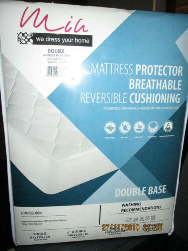 Luxury Quilted Double Bed Mattress Protector King Size Fitted Cover Diamond Top